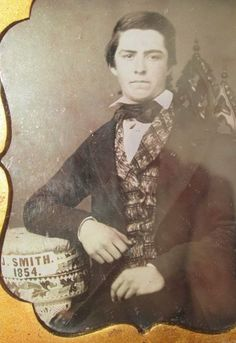 Daguerreotype of a J. Smith in 1854