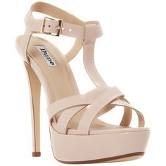 Dune Maui Platform Stiletto Sandals , Nude (110 BAM) ❤ liked on Polyvore featuring shoes, sandals, heels, nude, strappy sandals, nude high heel sandals, flat sandals, high heel platform sandals and flat shoes #platformsandalsheels #sandalsheelslow