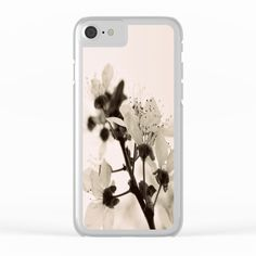 20% Off + Free Worldwide Shipping on Phone Cases Today! -  Blossoms Monochrome Clear iPhone Case by ARTbyJWP from Society6 #phonecases #clearcases #iphonecases #powderpink #blossoms -  Shop clear iPhone cases featuring brilliant patterns and designs on frosted, transparent shells - created by the world's best independent artists.