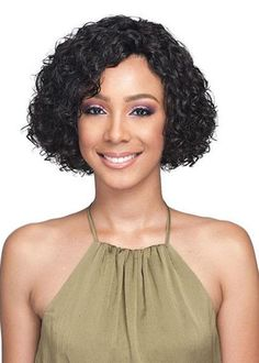 Womens Short Length Bob Hairstyles Full Head Curly Synthetic Hair Capless Wigs We carry a wide array of the hottest styles of tops, bottoms, dresses, jewelry, and accessories. Black Girl Bob Hairstyles, Bob Hairstyles With Bangs, Bob Haircut With Bangs, Wig Hairstyles, Curly Bob Wigs, Kinky Curly Hair, Short Wigs, African American Bobs Hairstyles, Medium Hair Styles