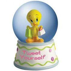 #WG13980 Looney Tunes Tweety Tweet Yourself Water Globe by sensationaltreasures