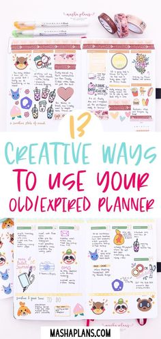 What to do with your old planers? I'll show you how to reuse and repurpose your old and unused dated planners. Put those beautiful planners to good use with these 13 fun ideas. Planner Tips, Planner Layout, Planner Pages, Life Planner, Printable Planner, Happy Planner, Planner Stickers, 2015 Planner, Printables