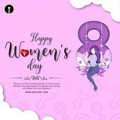 Free Happy Woman Day Wishes E-card Design PSD Template - Indiater Happy Girls Day, Happy Woman Day, Happy Women, Girl Day, Disability Quotes, Bff Quotes Funny, Free Flyer Templates, Happy Independence Day, Day Wishes