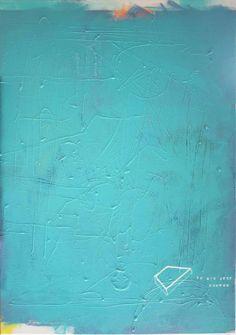 """""""to nie jest drewno"""" by Mary Wide Lake 70x100cm akryl na płótnie"""