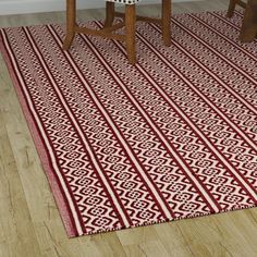 Found it at Wayfair - Oxbow Hand-Woven Red Area Rug