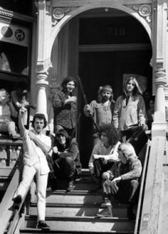 The Grateful Dead at their house in Haight-Ashbury.