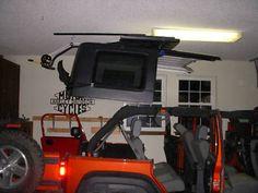 Hard Top Hoist for Jeep Wrangler JK 2 door 07-12, also available for 4 doors.