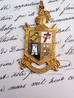 Vintage Enamel Medal by thejunkdiva on Etsy, $40.00