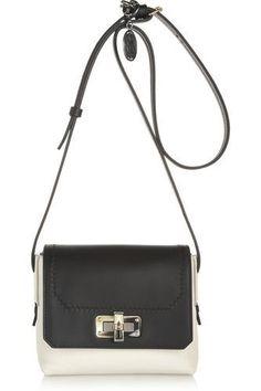 The Happy mini two-tone leather shoulder bag #accessories #women #covetme #lanvin
