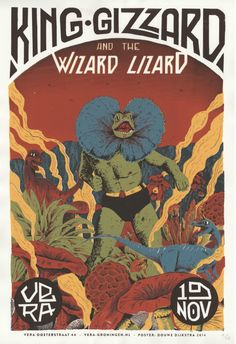 King gizzard & the lizard wizard screenprinted by DouweDijkstra