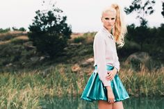 Falda Metal azul