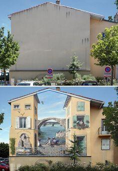 """ Au fil de la Loire"" / Street art. / By Patrick Commecy."