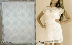 Made from a pillowcase @Trash To Couture: Before & After