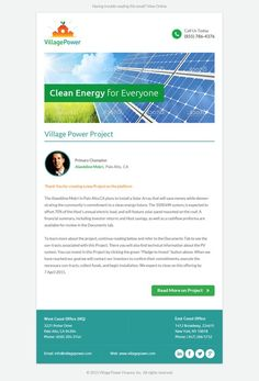 Village Power Email/Newsletter Template by Paperkraft