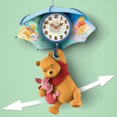 Pooh-And-Piglet-Blustery-Days-Wall-Clock-