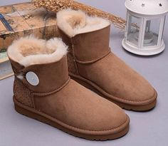 UGG Boots Mini Bailey Button Scale 1007538 Chestnut
