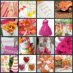 Inspired Celebration: Colour Inspiration - Pink & Orange