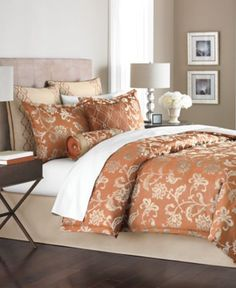 Martha Collection Regal Damask 24 Piece Queen Comforter Set Bed In A Bag Bath Macy S For The Home Pinterest