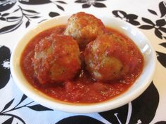 Turkey Pesto Meatballs!  Very tasty.  Can be made ahead and frozen by cooking them in about a half inch of water and then browning them in a frying pan.  Freeze them slightly on an aluminum lined cookie sheet and store in a plastic bag.  When you are ready to use you can reheat them on a cookie sheet in the oven.