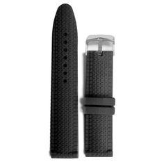 20mm Uusi tavallinen musta silikoni hyytelö Rubber Unisex Watch Band Hihnat WB1070A20JB