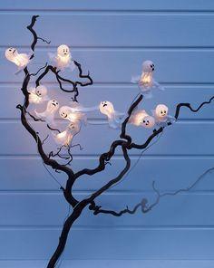 Geistergirlande für Halloween basteln