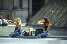 Disturbing Photos of People Getting Sucked Into Their Phone Screens Photographer Antoine Geiger has put together a strange photo series titled SUR-FAKE. Each Photoshopped image shows people in public having their faces suck