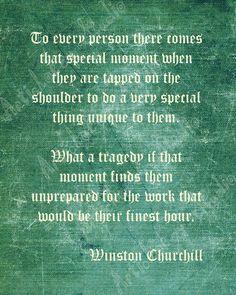 Winston Churchill quote.