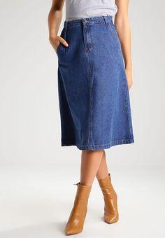 Vila VILAMA - A-line skirt - medium blue denim for £36.99 (22/03/17) with free delivery at Zalando