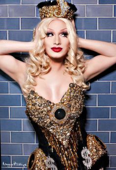 Jinkx Monsoon! Nice outfit, although I would take the $$ signs off