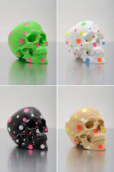 """Jiri Geller models and subverts the iconic forms of contemporary culture with vengeful precision. Dali, Vanitas Vanitatum, Colorful Artwork, Contemporary Art, Sculptures, Objects, Skulls, Creative, Unique"