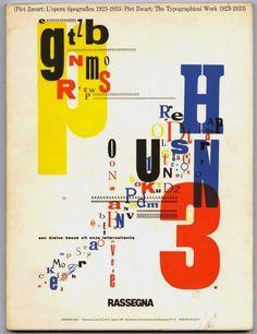 PIET ZWART, THE TYPOGRAPHICAL WORK 1923 – 1933] by Bruno Monguzzi. 1987. First edition.