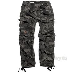 Surplus Airborne Vintage Trousers Black Camo Preview