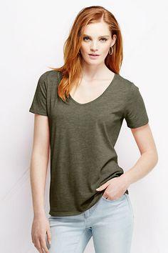 Women's Relaxed Slub Jersey V-neck T-shirt