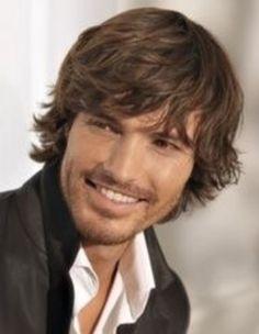 Medium Length Hairstyle for Men medium hairstyles for men mens hairstyles medium. Medium Hair Cuts, Long Hair Cuts, Medium Hair Styles, Curly Hair Styles, Haircut Medium, Wavy Hair, Short Hair, Hair Bangs, Hairstyle Short