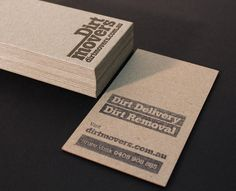 Minimal business cards design inspiration brand identity dirtmovers business card design inspiration card nerd reheart Images
