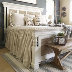 30 French Country Bedroom Design and Decor Ideas for a Unique and Relaxing Space - The Trending House Romantic Master Bedroom, Farmhouse Master Bedroom, Modern Bedroom, Master Suite, Bedroom Neutral, Warm Bedroom, Pretty Bedroom, Master Bedrooms, Bedroom Colors