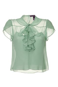 STYLEBOP.com | PaleSeafoamSingleGeorgetteDapneTopbyRALPHLAURENCOLLECTION | the latest trends from the capitals of the world