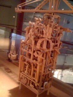 CRANE, moveable parts. Folk Artist Marvin Finn (1913-2007), Louisville, KY around 2003