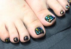 glass nails pedicure by unistella Foot Pedicure, Pedicure Nail Art, Toe Nail Art, Mani Pedi, Manicure, Foot Henna, Nail Art Photos, Toe Nail Designs, Nails Design