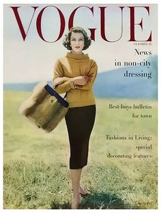 Vogue Cover - October 1956 by Karen Radkai