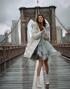Jeon Ji Hyun Takes New York Like a Fashion Boss in New Sportwear CF - A Koala's Playground Korean Actresses, Korean Actors, Actors & Actresses, Korean Dramas, Jun Ji Hyun Fashion, Seo Ji Hye, My Love From Another Star, Taking New York, Park Min Young