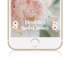Bridal Shower Geofilter Floral Bridal Shower Snapchat Filter Custom Snapchat Geo Filter Wedding Snapchat Filter by TheEtiquettePress on Etsy https://www.etsy.com/listing/468375419/bridal-shower-geofilter-floral-bridal