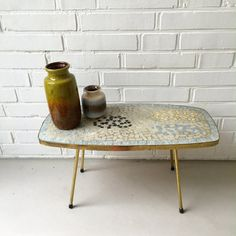 Small table mosaic flower table coffee table vintage 50 by moovi