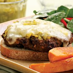 This diner classic gets a makeover by replacing some of the ground beef with finely chopped portobello mushrooms, which add moisture and flavor. We like a smear of pickle relish on top, but you could try chutney, mustard or hot pepper relish in its place. Make it a Meal: Round out the plate with Oven Sweet Potato Fries and Balsamic & Parmesan Roasted Cauliflower.
