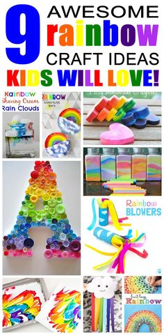 9 rainbow craft ideas for kids. Rainbow craft ideas that children will love. Fun kids activities and crafts to do at home.