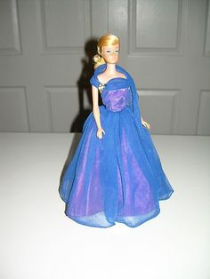 Vintage Barbie RARE Halina's Doll Fashions Chicago Royal Blue Evening Gown 1960s