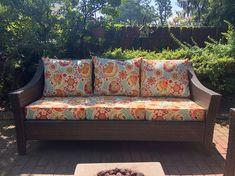 Couch Outdoor Chair Cushions Diy, Garden Cushions, Outdoor Cushion Covers, Cushions To Make, Slipcovers For Chairs, Seat Cushions, Outdoor Chairs, Outdoor Furniture, Diy Cushion