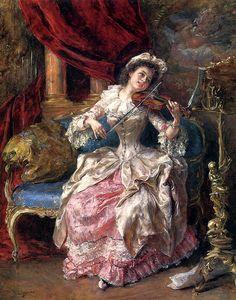 Eduardo Leon Garrido (1856-1906) A Musical Afternoon