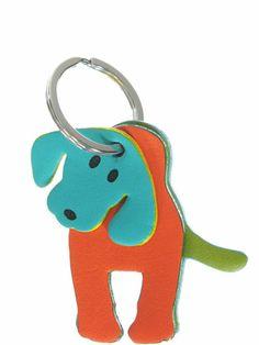 porte clé chien cuir