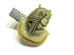 Vintage Selro Egyptian Tie Clip Pharaoh Head by SoBejeweled